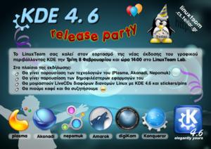 Πατήστε στην εικόνα για να τη δείτε σε μεγέθυνση.  Όνομα:  KDE_4.6_release_party.png Εμφανίσεις:  0 Μέγεθος:  1,04 MB ID: 87327
