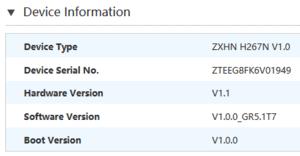 Πατήστε στην εικόνα για να τη δείτε σε μεγέθυνση.  Όνομα:  ZTE H267N info.PNG Εμφανίσεις:  4 Μέγεθος:  6,8 KB ID: 208801