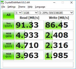 Πατήστε στην εικόνα για να τη δείτε σε μεγέθυνση.  Όνομα:  samsung evo 256GB U3 (kingston g3 reader).png Εμφανίσεις:  0 Μέγεθος:  35,0 KB ID: 200843